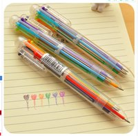 Multi Color 6 in 1 Color Ink Ballpoint Pen Ball Point Pens C...