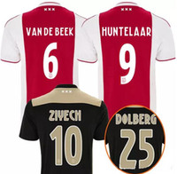 Ajax SOCCER JERSEYS 18 19 AJAX HOME Away Soccer Jersey 2018 ...