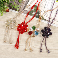 Shining Crystal String Beads Necklace &Pendants For Women Lo...