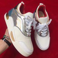 Hohe Qualität Aurelien rote Untere Schuhe für Männer Sneaker Sportschuhe flache luxus luxus turnschuhe trainer party hochzeitsgeschenk