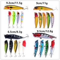 Новые 4 Стиля Плавающие Плавательный Поппер Рыбалка приманки набор 3D Большой рот Рыба Поплавок Рыболовные Приманки