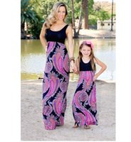 summer mother daughter dress floral family matching clothes ...