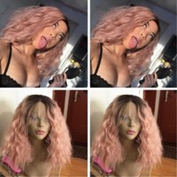 Hot Cool Light Pink As Smoke Ombre Hair Synthetic Lace Front...