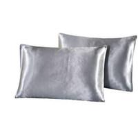 Naturelife 실크 새틴 베개 홈 여러 가지 빛깔의 아이스 실크 베개 케이스 단색 더블 페이스 봉투 침구 베개 커버