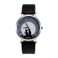 Moda Para Mujer relojes Faux cuero analógico cuarzo reloj de pulsera reloj analógico cuarzo