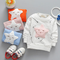 Baby Cartoon T- shirt Sweaters 4 Colors Solid Printed Embroid...