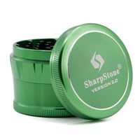 Chanfrein Sharpstone Herb Grinder 63mm 4 couches en alliage d'aluminium Herb Grinder Tobacco 7 couleurs Sharpstone version 2.0