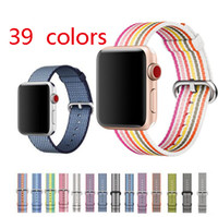 39 colors woven nylon strap for apple watch band 38 40mm 42 ...