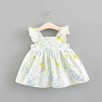 Special Offer Girls Floral Dresses with Ruffle Sleeves Summe...
