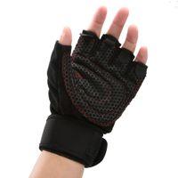 Gants de sport Gym Half Finger respirant Haltérophilie Fitness Gants Anti Slip Homme Femme Haltérophilie Gants Gym Taille M / L / XL