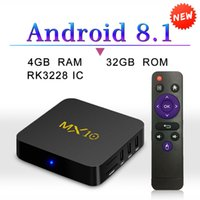 Android 8. 1 Tv Box MX10 Quad Core 4GB 32GB RK3328 4K Ultra H...