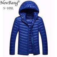 2019 NewBang Марка 8XL 9XL 10XL мужская пуховик ультра легкий пуховик мужчины легкий перо с капюшоном теплый портативный зимнее пальто