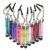 Luxury Diamond Crystal Touch Screen Capacitive Stylus Ball Bling Pen Pens For Cellphone iphone PC Tablet iPad