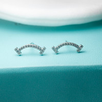 Luxury Jewelry 925 sterling silver tf Diamond Smile earrings...