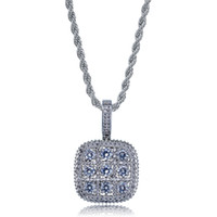 New Fashion Mens Bling Iced Out AAA Cubic Zirconia Gem Penda...