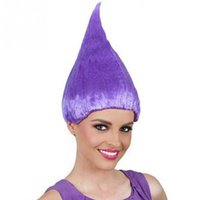 Trolls Poppy Wig Hat per bambini Bambini Cosplay Party Supplies Trolls Wig 8 colori Birthday Party Hats