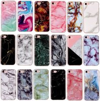 For iPhone X 5S 6S 7 8 Plus case ultra thin Marble painted T...