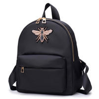 The new style waterproof canvas casual mini backpack red bla...