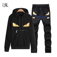 Tuta da uomo LBL di marca Casual Tute hip-hop Set di tute con cappuccio Tute da uomo Streetwear Jogger Top + Pantaloni della tuta Set Taglie forti