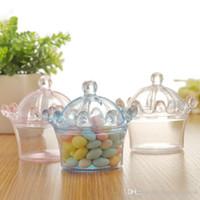 Avrupa Taç Şekli Plastik Şeker Hediye Kutusu Nikah Şekeri Kutusu Düğün Dolunay Şarap Yaratıcı Şeker Kutusu Toptan