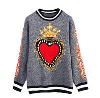 Spedizione gratuita ! Maglioni da donna Love Crown Jacquard Pullover 2018 Maglione da donna autunno e inverno moda donna