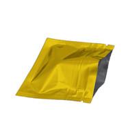 7.5 * 6cm 100 pçs / lote Gold Grip Selo fecho fechado alimentos secos Mylar Mylar Bolsa De Café Chá De Café Embalagem Saco de Embalagem Cheirar Prova Envolvendo o pacote