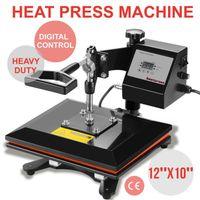 """أفضل بيع 12 """"× 10"""" سوينغ بعيدا الرقمية آلة الصحافة الحرارة نقل التسامي تي شيرت آلة الطباعة"""