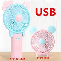 USB Charging Portable Folding Fan Mini Cartoon Cat Rechargea...