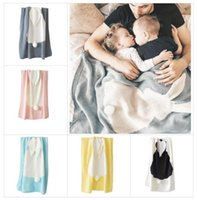 INS 5 Color Children Blanket Baby Girls Cute rabbit Knitted ...