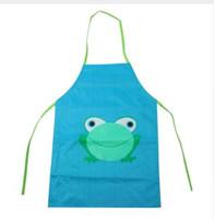 أطفال الأطفال للماء الضفدع طباعة المئزر الطلاء أكل شرب قميص بالجملة شحن مجاني 30RJL28 # 1T3