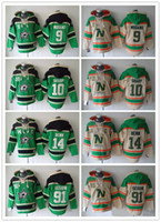 Minnesota North Stars Hockey Men Jerseys 9 Mike Modano 91 Ty...