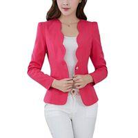 ROPALIA Giacca da donna casual da ufficio con un bottone slim, giacca casual da donna