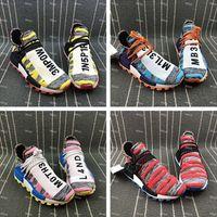 2018 Sıcak Satış Yeni İnsan Yarışı Pharrell x ayakkabı Erkekler Kadınlar Koşu ayakkabı Ultra Nakış sneakers Kutusu Ile Boyutu 36-46