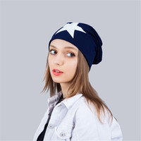 Hats New Autumn And Winter Hat Woman Five- Pointed Star Men C...