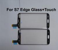 Yeni Dış LCD Ön Ekran Cam + Dokunmatik Samsung Galaxy S7 kenar Dokunmatik Ekran Için Yedek Parçalar