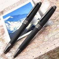 جديد فاخر مي بي القلم ماركة 163 القلم ماتي أسود كلاسيك الأسطوانة الكرة القلم / حبر جافت أقلام الخيار بلانس أقلام للكتابة مصمم الأقلام هدية