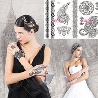 Classic Sexy Black Lace Waterproof Temporary Tattoos Tattoo ...