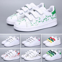 Adidas Superstar 2018 Brand Head boy girls Sneakers Superstar niños Niños Zapatos nuevos stan zapatos moda smith sneakers cuero deporte zapatillas