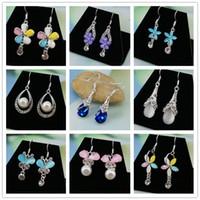 24 pairs mix  lot Korean style Fashion Flowers Statement Ear...