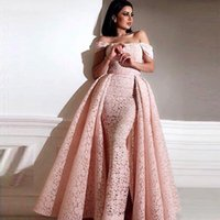 Sexy Pink Vintage Lace Overskirt Evening Dresses 2019 Yousef...