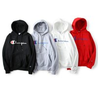 New Champon Classic Hoodie men women black gray Red 100% cot...