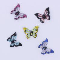 50pcs / lot 3d 3d smalto smalto animale farfalla ciondolo fascino per la creazione di gioielli collana 27mm 5 colori