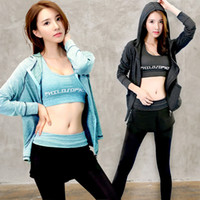 Women Yoga Sets Three- piece Breathable Leggings Sportswear F...