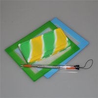 Silikonöl Waxmate Jars flacher Silikon Waxmate Pad quadratischer Behälter mit 14 * 11,5 cm Silikonmatte und Tupferwerkzeug