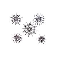 tutta la vendita shippingfree misto 5pcs / lot accessori dei monili di modo dell'annata metallo rhinestone stella fiocco di neve spilla