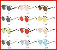 Vidano 옵티컬 라운드 메탈 선글라스 Steampunk 남성 여성 패션 안경 브랜드 디자이너 Retro Vintage Sunglasses UV400