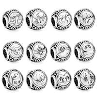 Authentic 925 Sterling Silver 12 constellations Charm Beads ...