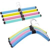 30 PCS colorido Brasão Bendable Esponja roupas de adultos Hanger Crianças Hanger espuma ajustável rack frete grátis