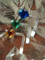 لون الخوخ وعاء الجملة الزجاج الشيشة، تركيبات أنابيب المياه،
