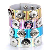 pulsera para la moda de la sublimación Reflector pulseras en blanco joyería para impresión de transferencia térmica regalos de amor personalizados privados